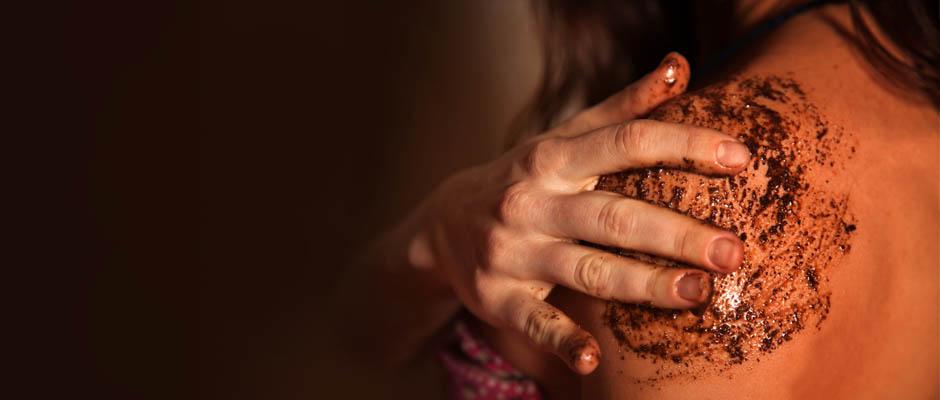 Кофейный скраб для тела в сауне