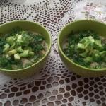 Сыроедческий крем-суп из цветной капусты и шампиньонов.